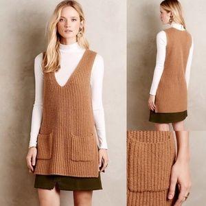 Anthropologie Moth Tan Knit Tunic Sweater Dress